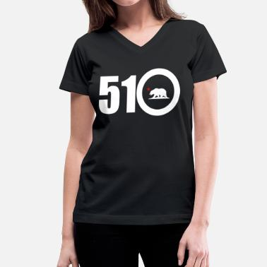 Bay Area Born And Raised area_code_510 - Women's V-Neck T-Shirt