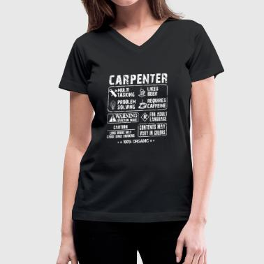 Long John Carpenter - Long hours may cause binge drinking - Women's V-Neck T-Shirt