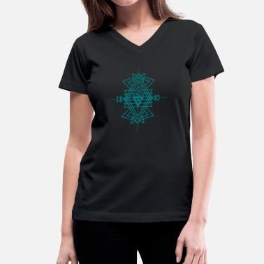 Tattoo Pattern a geometric pattern tattoo - Women's V-Neck T-Shirt