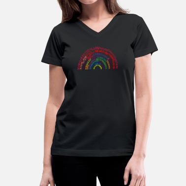 Richard Dawkins Richard Dawkins quote-rainbow by Tai's Tees - Women's V-Neck T-Shirt