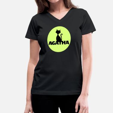 Name Day Agatha Name First name Name Motif name day - Women's V-Neck T-Shirt