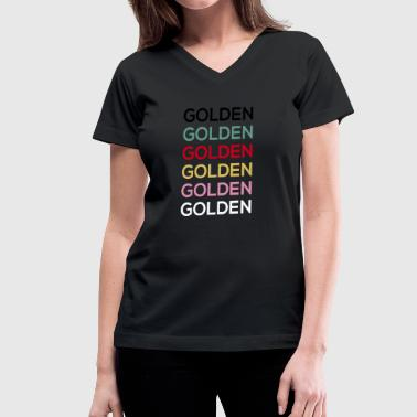 Golden Golden Golden - Women's V-Neck T-Shirt