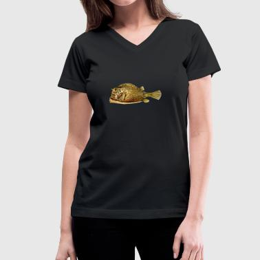 Angler Fish fish angler - Women's V-Neck T-Shirt
