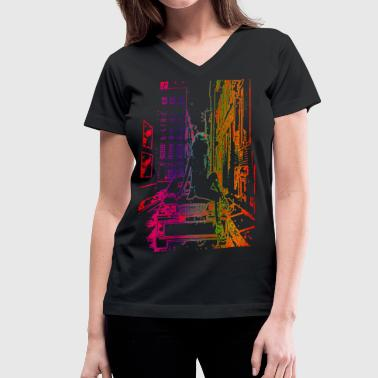 Outline - Women's V-Neck T-Shirt