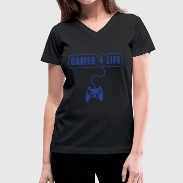 Playstation 4 Gamer 4 Life Playstation - Women's V-Neck T-Shirt