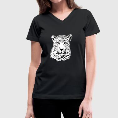 Leopard - Safari - Africa - Women's V-Neck T-Shirt