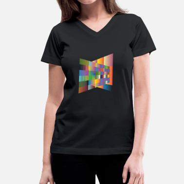 Multi Multi colored plane - Women's V-Neck T-Shirt