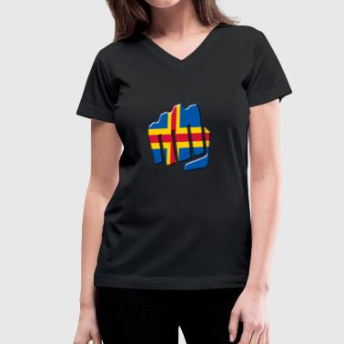 Aland - Women's V-Neck T-Shirt