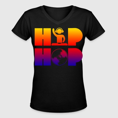 hip-hop shirt - Women's V-Neck T-Shirt