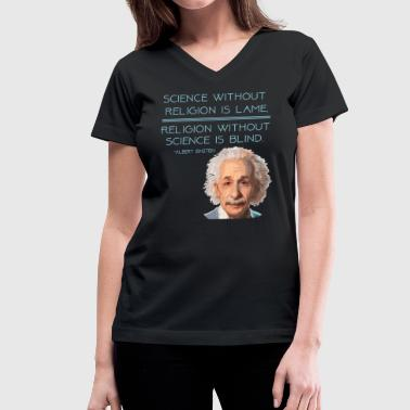Science and Religion - Women's V-Neck T-Shirt