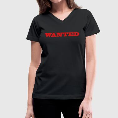 Cool Fonts wanted in a cool poster font - Women's V-Neck T-Shirt