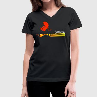 CALI Beach - Women's V-Neck T-Shirt