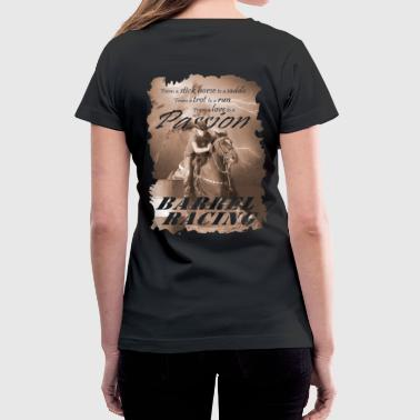 Barrel Racing Passion - Women's V-Neck T-Shirt