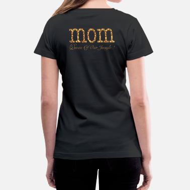 Leopard Print wordtease MOM Queen Of Our Jungle ! leopard - Women's V-Neck T-Shirt