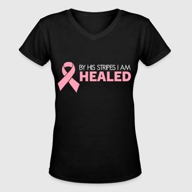 Breast Cancer Survivor (Dark) - Women's V-Neck T-Shirt
