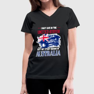 Australia T Shirt - Women's V-Neck T-Shirt