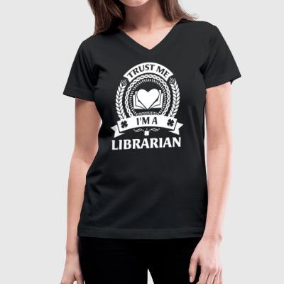 Librarian Shirt - Women's V-Neck T-Shirt