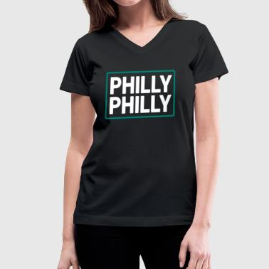 Philly Philly - Women's V-Neck T-Shirt