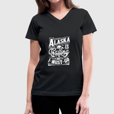Alaska Tee Shirt - Women's V-Neck T-Shirt