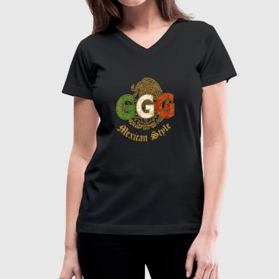 ggg mexican style - Women's V-Neck T-Shirt