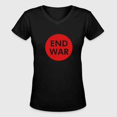 End War - Women's V-Neck T-Shirt
