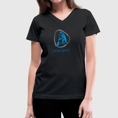 Canoe_sprint - Women's V-Neck T-Shirt