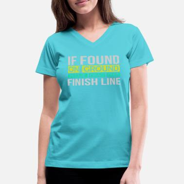 Ground Pilot If Found On Ground - Women's V-Neck T-Shirt
