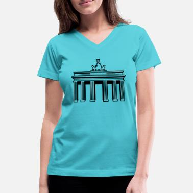 Brandenburg Gate Brandenburg Gate Berlin Germany - Women's V-Neck T-Shirt