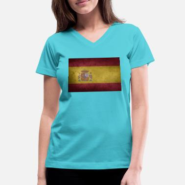 Spain Flag flag of spain - Women's V-Neck T-Shirt