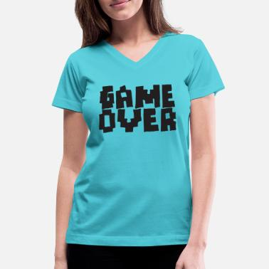 Game Over GAME OVER - Women's V-Neck T-Shirt
