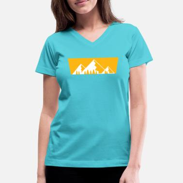 Carinthia Mountains with firs - Women's V-Neck T-Shirt