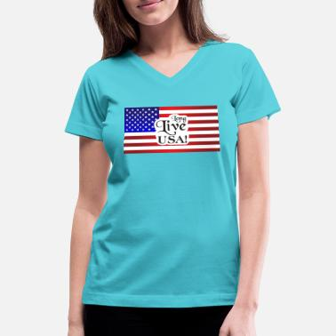 Americana Americana Gear - Women's V-Neck T-Shirt