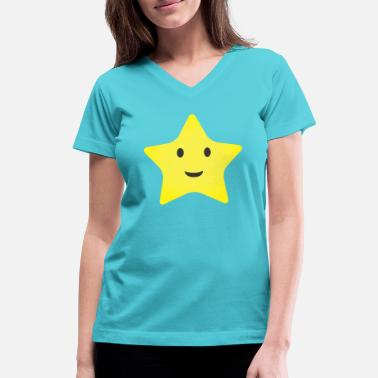 Little Stars Little Star - Women's V-Neck T-Shirt