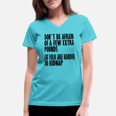 Kidnapped harder to kidnap - Women's V-Neck T-Shirt