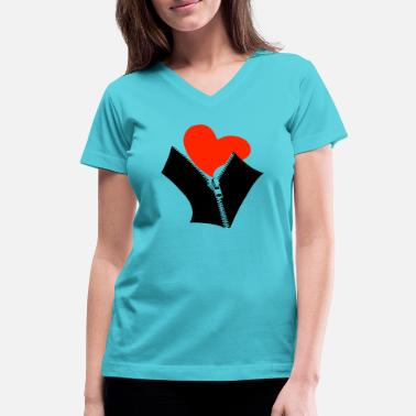 Romantics romantic - Women's V-Neck T-Shirt