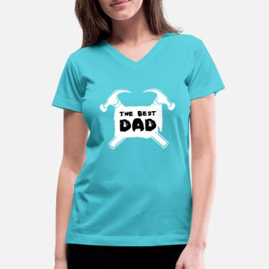 Fathers Day fathers day - Women's V-Neck T-Shirt