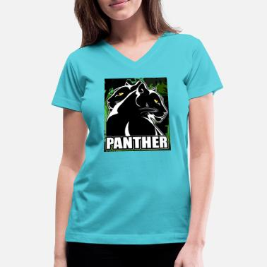 Panther - Women's V-Neck T-Shirt