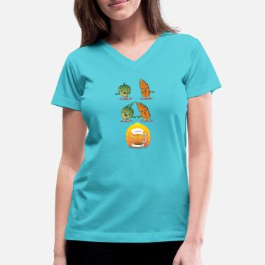 Fusion Funny Beer Fusion - Hop and Malt Gift Tee - Women's V-Neck T-Shirt