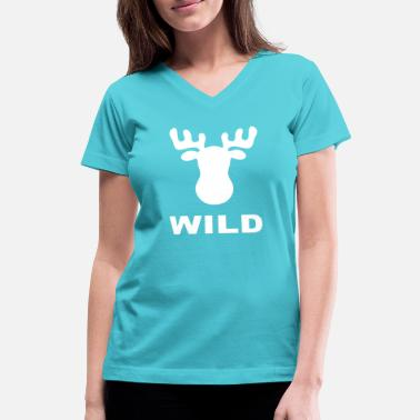 Wild Animal WILD ANIMAL - Women's V-Neck T-Shirt