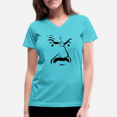 S Face Carl s Face ATHF - Women's V-Neck T-Shirt