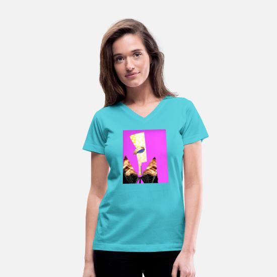 Life Force T-Shirts - guardian angel - Women's V-Neck T-Shirt aqua
