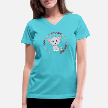 Frustration Frustrated Kitty - Women's V-Neck T-Shirt