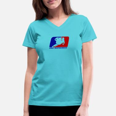 Ama AMA motocross superbikes - Women's V-Neck T-Shirt