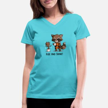 Rise and Shine - Women's V-Neck T-Shirt