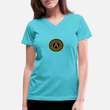 Agorism Anarchy - Women's V-Neck T-Shirt