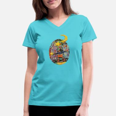 Blade Roller blades art print for women - Women's V-Neck T-Shirt