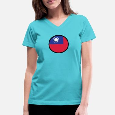 Hakka Marked By Taiwan - Women's V-Neck T-Shirt