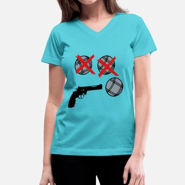 Petanque petanque next shooter pistol ball 3 - Women's V-Neck T-Shirt