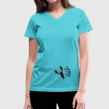 Lobster - Women's V-Neck T-Shirt