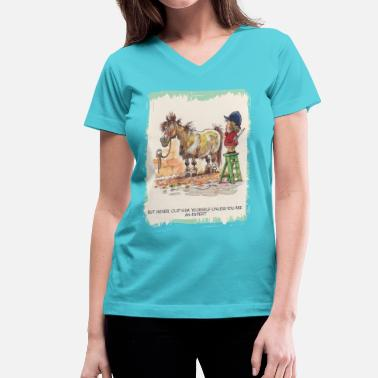 Norman Thelwell Thelwell Hairdresser Be A Expert - Women's V-Neck T-Shirt